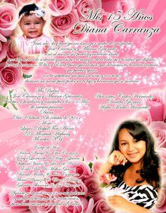 Invitación para 15 Años con Rosas #sweet15 #quinceanera #invitations #invitaciones