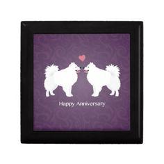 American Eskimo Dog Happy Anniversary Design Jewelry Box