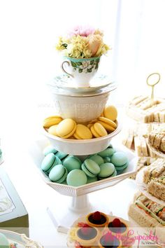 Baby shower - High tea style Macaroons