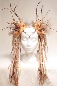 RESERVED FOR Indeutschland Tribal Headdress Goddess Druantia