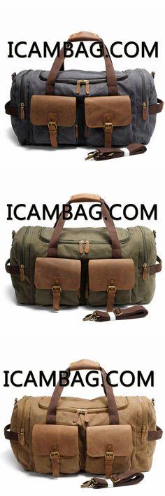 7b94350f70c8 Vintage Canvas Messenger Bag Big Travel Bag 9133
