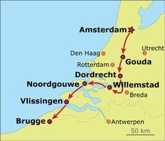 Amsterdam - Brugge biking trip