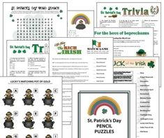Who was Saint Patrick? Read the story and find St Patricks Day theme party ideas for group games, Irish recipes and attire. Office Party Games, Fun Party Games, Party Ideas, Event Ideas, Holiday Parties, Holiday Fun, Holiday Ideas, Bridal Shower Poems, St Patrick's Day Games