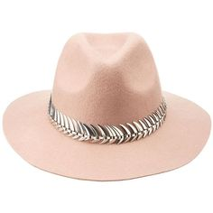 Charlotte Russe Metal-Trim Felt Panama Hat (46 BRL) ❤ liked on Polyvore featuring accessories, hats, charlotte russe, mauve, wide brim hat, wide brim felt hat, charlotte russe hats, felt hat and felt panama hat