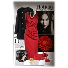 Holiday Office Party by lizgq on Polyvore featuring мода, Dsquared2, Christian Louboutin, Casadei, Hermès, Henri Bendel, Ippolita, Michael Kors, Cartier and Giorgio Armani