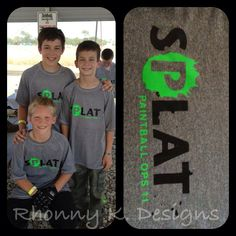 Paintball Party Favors. These boys definitely needed clean shirts after all those paintballs went flying!!  By Rhonny K. Designs. www.facebook.com/goRhonnyK