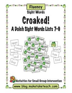 Fun freebie to practice sight words from the Dolch sight word lists 7-9.