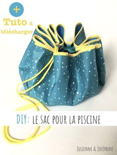 "How I finally made the bag for the ""dry feet"" pool ~ Julienne & Joséphine Hoe, Hacks Diy, Bucket Bag, Diy And Crafts, Sewing Projects, Purses, Crochet, Bags, List"