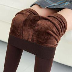 2017 New Plus Fashion leggings women girls Warm Winter Bright Velvet Knitted Thick Legging Super Elastic Pants 230g