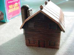 Vintage Barn Die Cast  Miniature Metal Pencil Sharpener in Box 2 inch