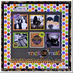 """wendy sue anderson - doodlebug """"halloween parade"""" trick or treat layout with pixies"""