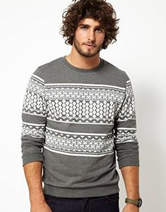 Enlarge ASOS Sweatshirt With Aztec Print