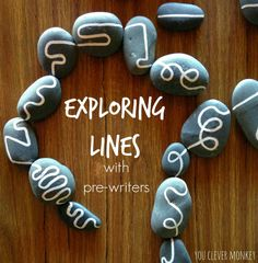The Secret to Teaching Handwriting - Use this one simple DIY project to help pre-writers to distinguish between straight and curved lines to help build their understanding of shape and help establish correct letter and number formation later | you clever monkey