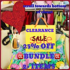 SALE 25% OFF BUNDLE of 2+ items. Listed BELOW  SALE.  SCROLL DOWN TOWARDS BOTTOM OF CLOSET  Other