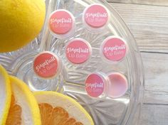 Hydrate your lips w/this #DIY tinted grapefruit lip balm. Get the recipe + free printable labels! http://lwvogue.com/diy-tinted-grapefruit-lip-balm/ #lipbalm #DIY