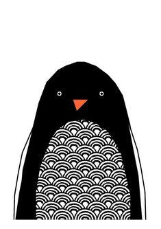 Hello Penguin Print van IngridPetrieDesign op Etsy
