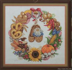 """""""A wreath of plenty."""" Booklet cross stitch .. Discussion on LiveInternet - Russian Service Online Diaries"""