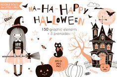 Cute Halloween graphic kit By Olga Angelloz