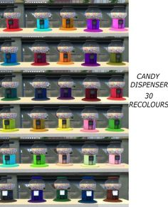 Functional candy Dispenser with Edible Candies by icemunmun at Mod The Sims