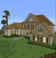 Home inspiration: adorable cool minecraft houses simple easy fresh house blueprints from cool minecraft houses Minecraft Roof, Modern Minecraft Houses, Minecraft Houses For Girls, Minecraft House Plans, Minecraft Mansion, Minecraft Houses Survival, Minecraft House Tutorials, Minecraft Houses Blueprints, Minecraft House Designs