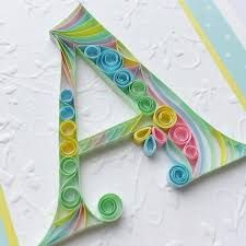 Items similar to Custom Monogram - Baby Shower Gift - Baby Girl - Personalized Monogram - Personalized Gift - Quilled Letter - Quilling Card - Birthday Card on Etsy Quilling Letters, Quilling Paper Craft, Paper Crafts Origami, Quilled Paper Art, Paper Quilling Designs, Girl Birthday Cards, Diy Birthday, Quilling Tutorial, Deco Originale
