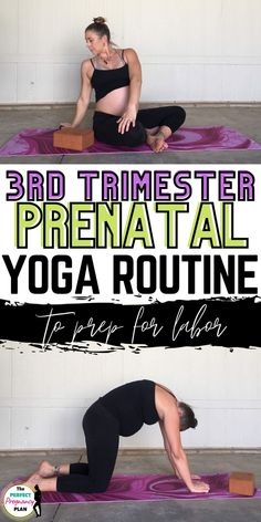Prenatal yoga safe for the third trimester and it helps to prepare the body for labor and delivery. Opening the hips, gentle prenatal yoga 3rd trimester poses that will strengthen you for the tough and beautiful journery ahead. This prenatal yoga routine is perfect to do throughout your first trimester, and second triemester too, but is imperative to do during your third trimester to help you endure and have an easier labor. This pregnancy yoga routine will strenghten your pregnancy. Prenatal Yoga Poses, Prenatal Workout, Pregnancy Workout, Yoga For Pregnant Women, Pregnancy Back Pain, Postpartum Fashion, Pregnancy Positions, 3rd Trimester, Breastfeeding And Pumping