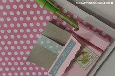 Prancheta decorada * Projetos Craft | Papelaria Criativa | Filipaper | Filiperson | Scrapbook | Silhouette | Scrappiness Designs
