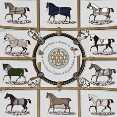 Horse Country Chic: Hermes Wallpaper and Fabric Collection Horse Country Chic: Hermes Wallpaper and Fabric Collection Hermes Home, Hermes Paris, Equestrian Decor, Equestrian Style, Equestrian Fashion, French Luxury Brands, Fashion Wallpaper, Designer Scarves, Equine Art