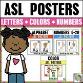 ASL American Sign Language Alphabet, Number, and Color Pos