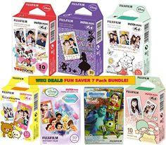 Fujifilm Instax Mini Fuji Instant Film 7 Pack BUNDLE, Mickey, Pooh, Monster, Alice, Rillakuma, Little Twin Stars, Fairies : 10 sheets of Each for 70 Sheets of Pictures! BONUS-FREE Wiki Deals Colorful Micro Fiber Cloth! Wiki Deals http://www.amazon.com/dp/B00U84UC8I/ref=cm_sw_r_pi_dp_4gyovb1FK2SAF