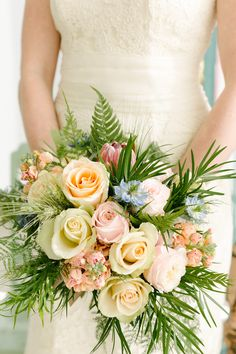 Spring / Summer Wedding Bouquet Inspiration -- See more on SMP: http://www.StyleMePretty.com/2014/02/18/pastel-bridal-inspiration-shoot/ City Love Photography