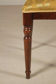 Gruppo 4 sedie in stile - gamba