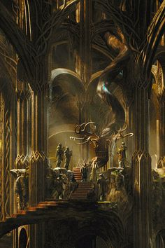 If there is one thing that can be said, excellent art design for Mirkwood and Thranduil! So beautiful!