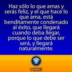 """#FelizMartes """"Haz sólo lo que amas"""" #FrasesVizor #vizor #Servicio #App   www.vizormobil.com"""