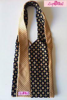 Primo progetto Cipolla per Abilmente 2013: Borsa realizzata con cravatte di seta!