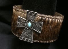 Trendy Upcycled Leather Belt Cuff Bracelet with Beautiful Silver Cross & Turquoise by VintageDayzFound on Etsy https://www.etsy.com/listing/261776631/trendy-upcycled-leather-belt-cuff