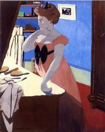 Misia at Her Dressing Table - Felix Vallotton - 1898