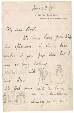 The Morgan Library & Museum Online Exhibitions - Beatrix Potter: The Picture Letters - Letter to Noel Moore, June 4, 1895, page 1
