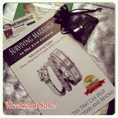 """Weekend Sale! Do you have our Surviving Marriage Bundle? What does it include...an autographed copy of our best selling book ~ Surviving Marriage in the 21st Century, FREE BONUS TIPS CD, 3ml of or unisex Marriage Fragrance and our business card...for that badly needed """"special advice.""""   Get the bundle, this weekend, on sale...for only $20...shipping included! Please inbox for PayPal address if interested.   Pre-order our new book, November release date, Surviving Parenting in the 21st…"""