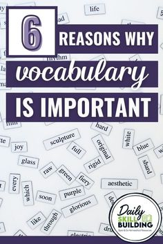 Keeping your mind sharp is only one of many good reasons why you should develop your vocabulary.   Don't underestimate the value of learning one new word every day. As your student's vocabulary grows, his or her knowledge grows, too.