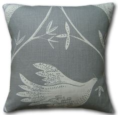 Cushion cover in Vanessa Arbuthnott In full Flight Scree Charcoal Grey Grey Cushions, Scatter Cushions, Throw Pillows, Cushion Covers Uk, Vanessa Arbuthnott, Charcoal Color, Traditional House, Country Living, Decorative Pillows
