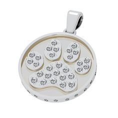 Bark Avenue Jewelers- Pave Paw Print Pendant 14 Karat White Gold - Large >>> Special cat product just for you. See it now! : Cat accessories