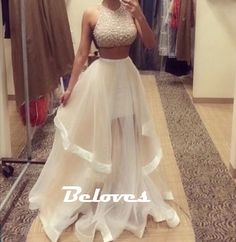 """Fabric:Tulle+ Neckline:illusion Silhouette:A+Line Color:Ivory+ Length:Floor+Length Custom+Made+:+We+also+accept+custom+made+size+and+color+.+Please+click+the+""""contact+us+""""and+send+your+size+and+color+to+our+email+.+Or+just+leave+a+message+to+us+when+placing+the+order+."""