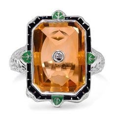 Edwardian Citrine ring...I love it