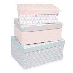 3er-Set rechteckige Schachteln ZOÉ aus ...