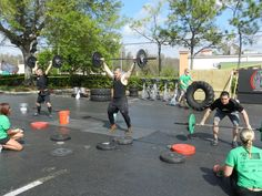 Push 'Em Out weight lifting at the Tilted Kilt Extreme Fitness Challenge!