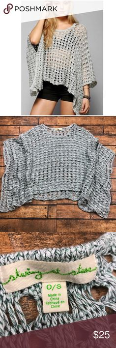 UO Staring At Stars Sky Blue Open Knit Poncho Staring at stars by urban outfitters One size Blue poncho (with Sleeve openings) Sky Blue Open knit. Unless stated NWT, all my clothes, shoes, and handbags are in gently worn condition. I will state any flaws that I see. I try my best to find all flaws but I may miss something. (I am humanafter all.)Please view listing pictures for measurements, additional questions are always welcome. All items are stored in a non-smoking environment. No…