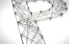 string art letter m | Step 7 - String Word Art