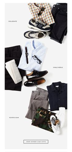 Steven Alan Father's Day shopping laydowns story