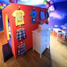 Clouds wallpaper: €75 per roll ex VAT (rolls come in 3ft x 9ft) - www.wallmural.ie | Enudden knobs: Ikea, €2 www.ikea.com/ie/en/